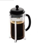 Caffeteria French press coffee maker with plastic lid, 8 cup, 1.0 l